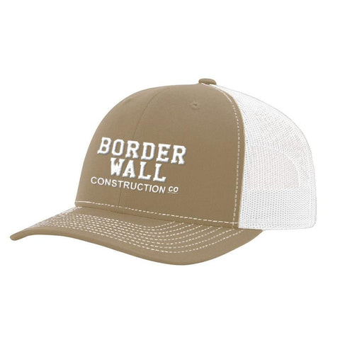 Image of Border Wall Hat - Khaki & White