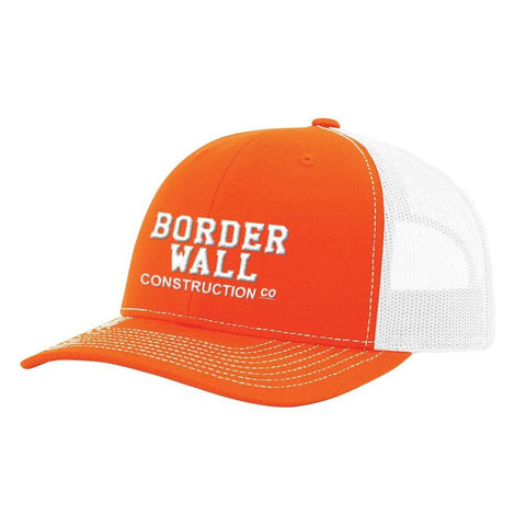 Image of Border Wall Hat - Orange & White