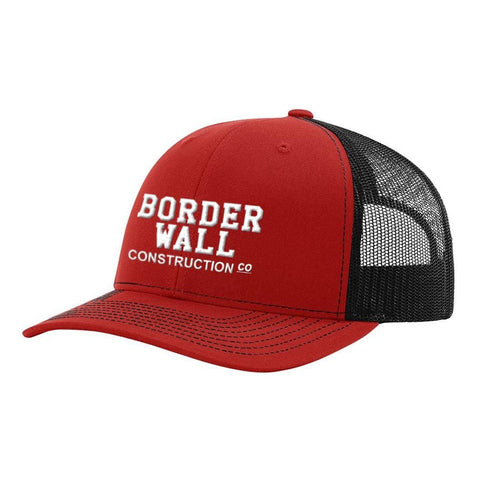 Image of Border Wall Hat - Red & Black