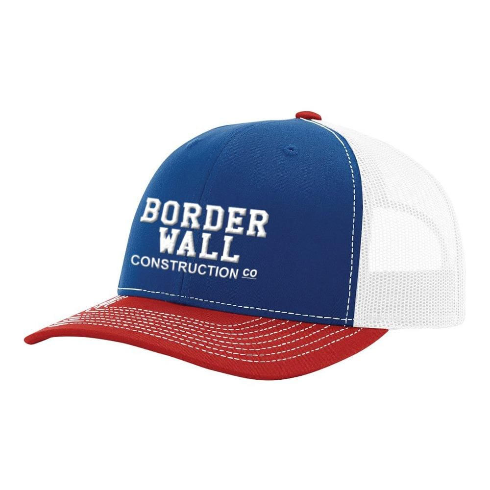 Border Wall Hat - Royal White & Red