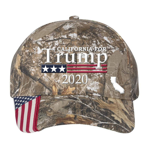 California For Trump 2020 Hat - Realtree Edge