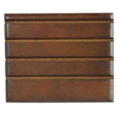 Image of Challenge Coin Holder Stand (Walnut) (Wood) (4 Rows) (Small)