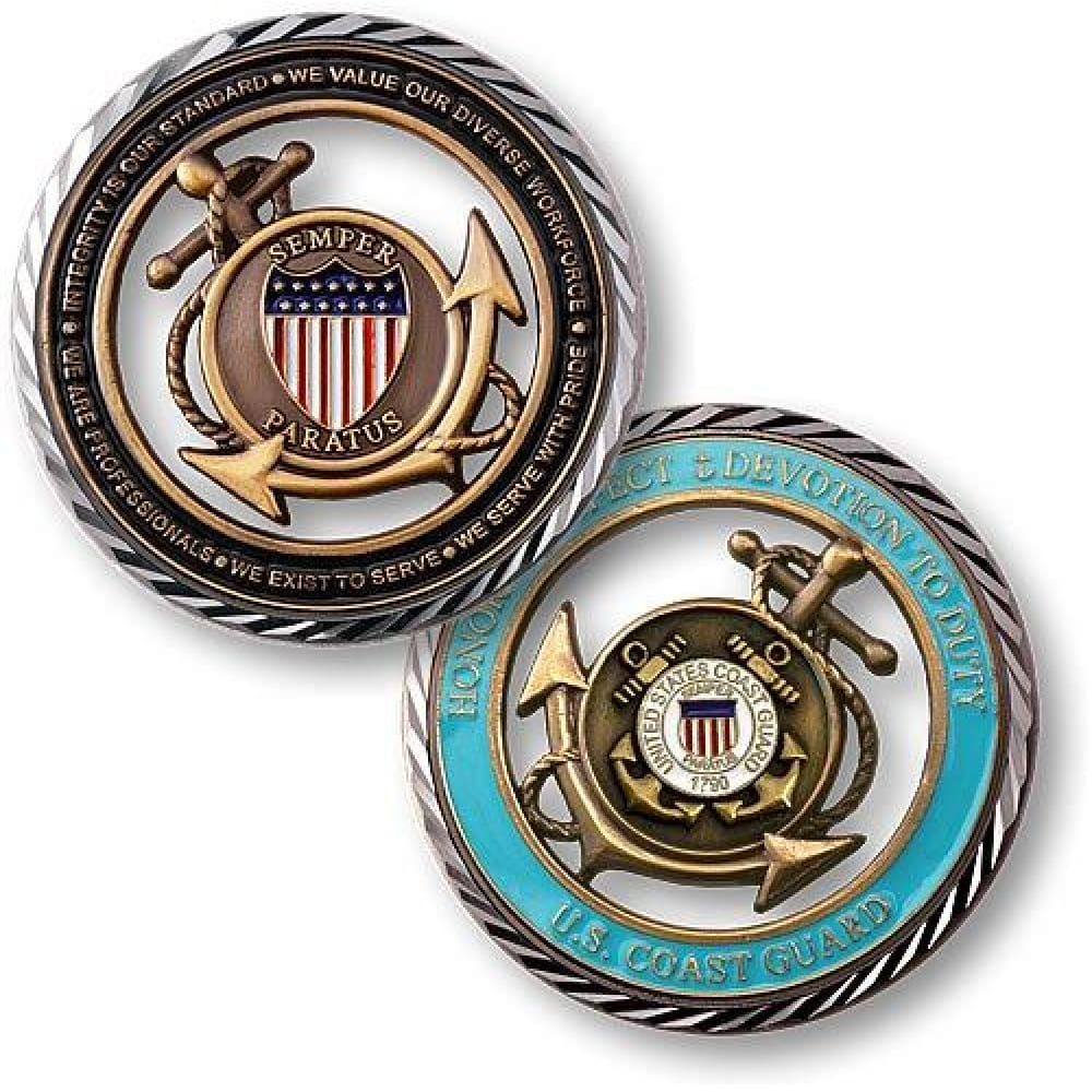 Coast Guard Core Values Challenge Coin - Coin