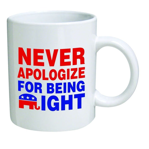 Coffee Mug -- Never Apologize