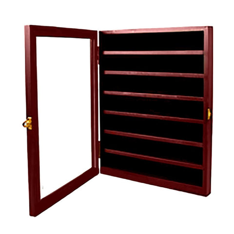 Coin Display Case -- Cabinet Rack Holder With Door - Coin Case