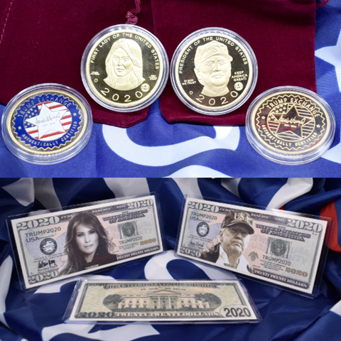 Image of BEST VALUE: All FOUR New Trump And Melania Coins And Bills