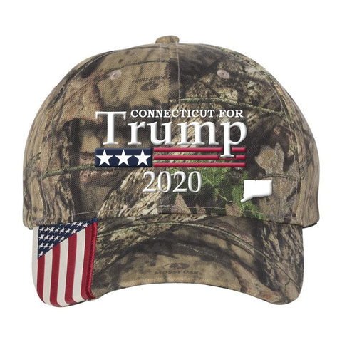 Connecticut For Trump 2020 Hat - Mossy Oak Country