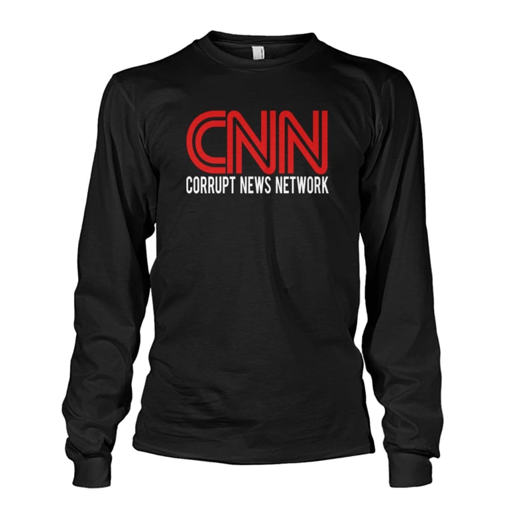 Corrupt News Network Long Sleeve - Black / S / Unisex Long Sleeve - Long Sleeves