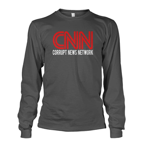 Image of Corrupt News Network Long Sleeve - Charcoal / S / Unisex Long Sleeve - Long Sleeves
