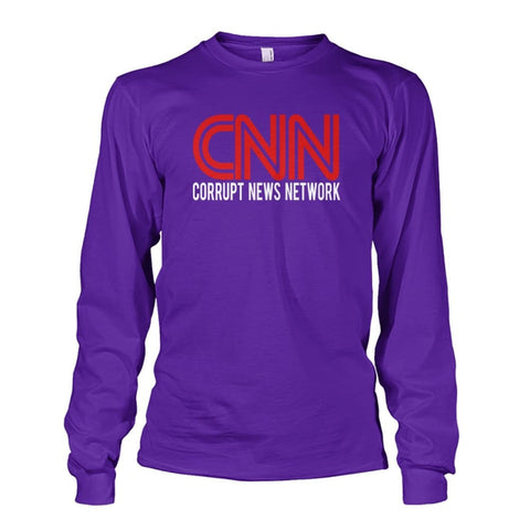 Image of Corrupt News Network Long Sleeve - Purple / S / Unisex Long Sleeve - Long Sleeves