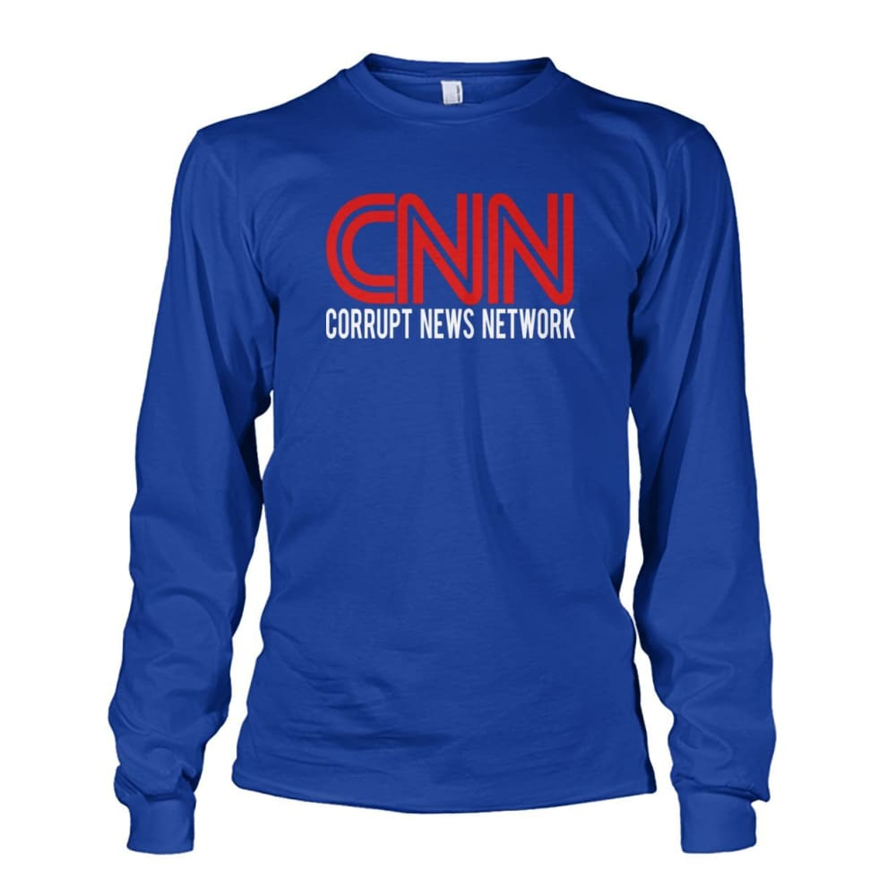 Corrupt News Network Long Sleeve - Royal / S / Unisex Long Sleeve - Long Sleeves