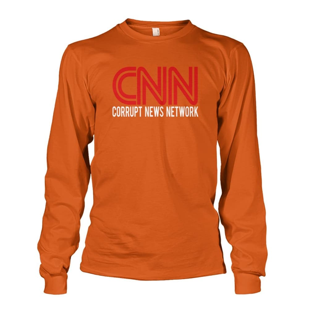 Corrupt News Network Long Sleeve - Texas Orange / S / Unisex Long Sleeve - Long Sleeves