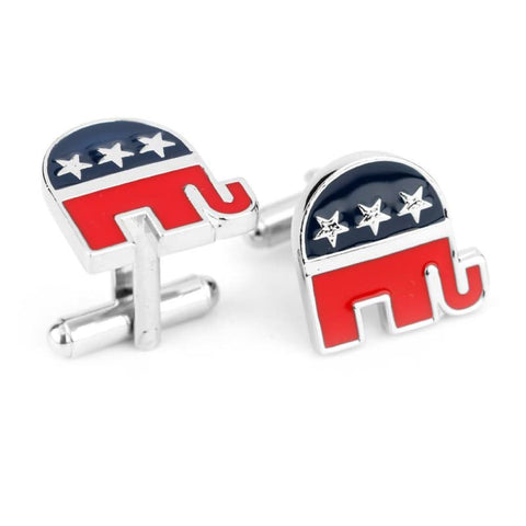 Cuff Links: Republican Party Logo - Jewelry