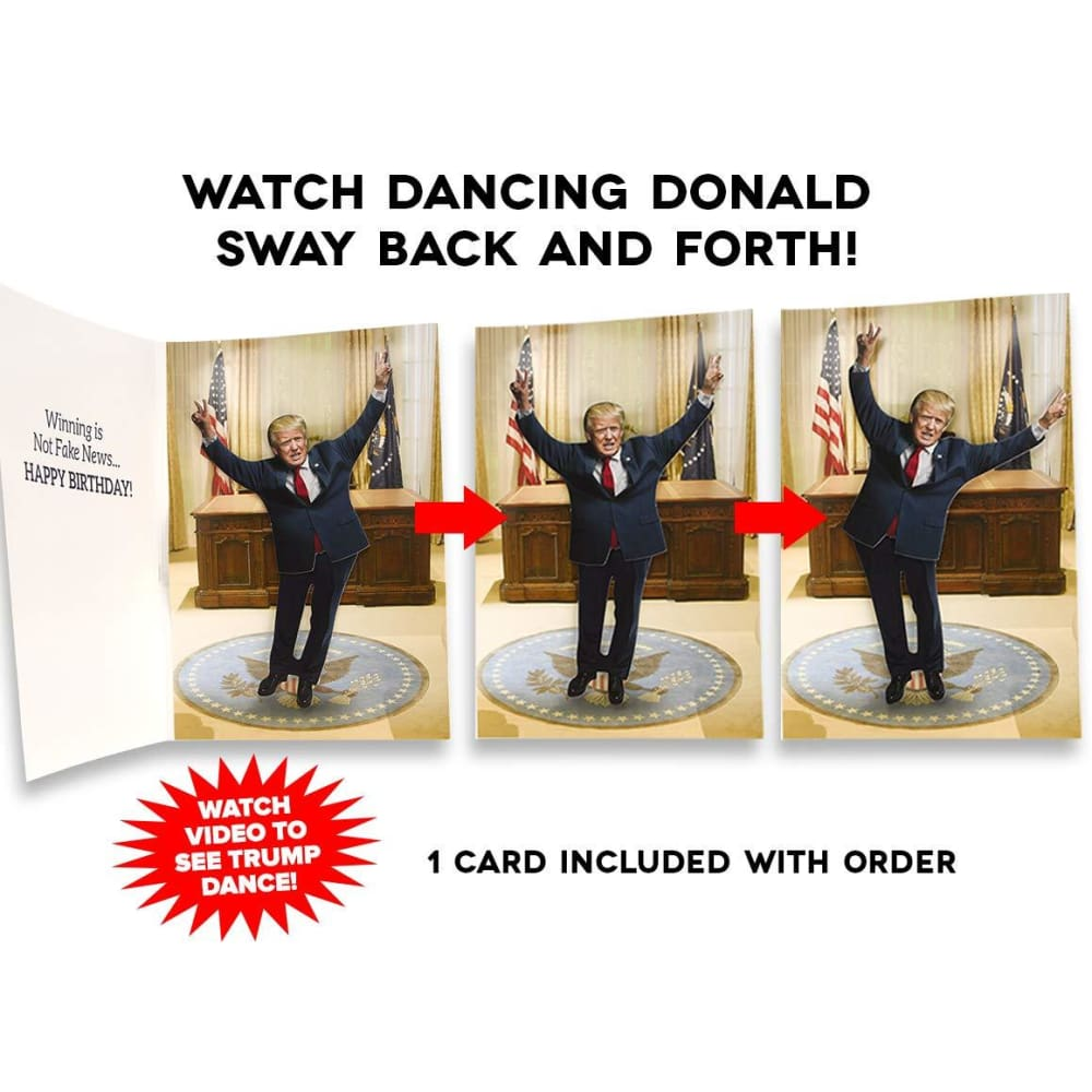 Peachy Donald Trump Collectables Dancing Donald Happy Birthday Card Personalised Birthday Cards Veneteletsinfo