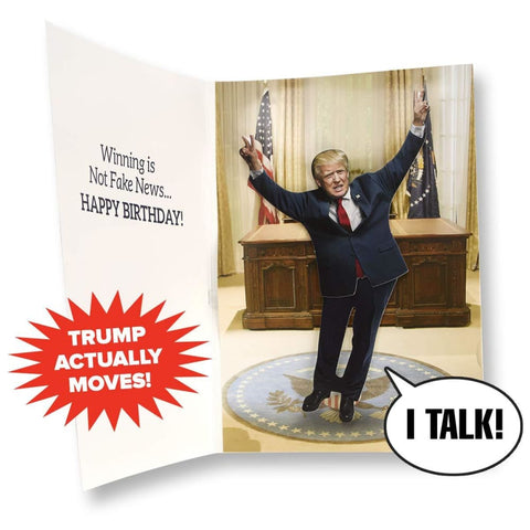 Dancing Donald Happy Birthday Card - Wishes You A Happy Birthday In Donald Trumps REAL Voice