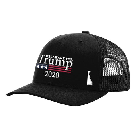 Image of Delaware For Trump 2020 Hat - Black Hat