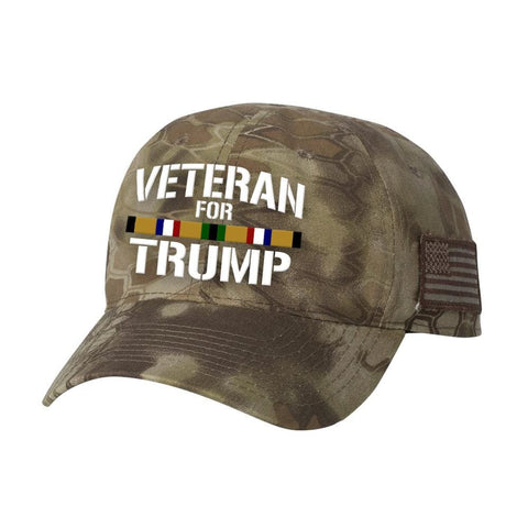 Desert Storm Veteran For Trump Kryptek Hat - Highlander - Hats
