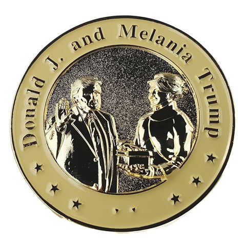 Image of Donald and Melania Trump 3D Inauguration Challenge Coin