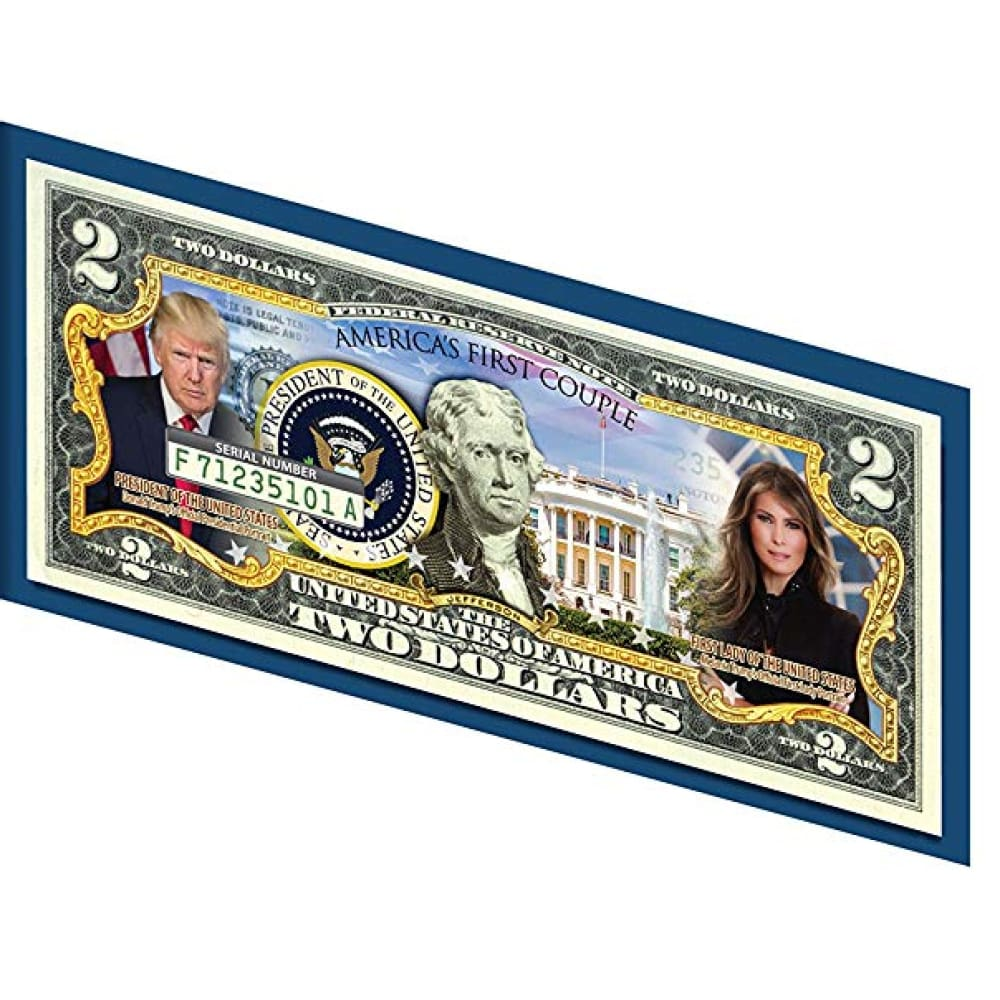 Donald & Melania Trump *Presidential Couple* Genuine LEGAL TENDER US $2 Bill - Bill