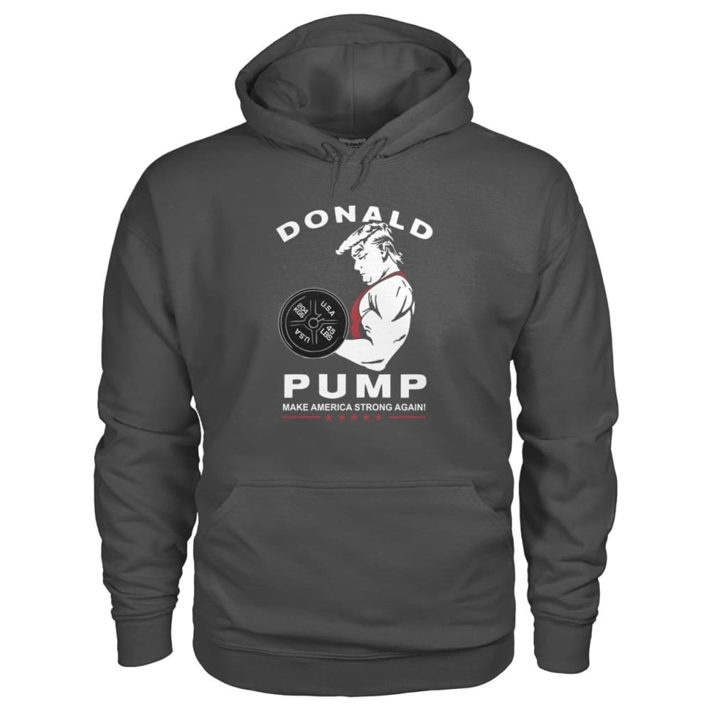 Donald Pump Hoodie - Charcoal / S - Hoodies
