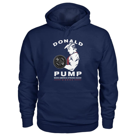 Image of Donald Pump Hoodie - Navy / S - Hoodies