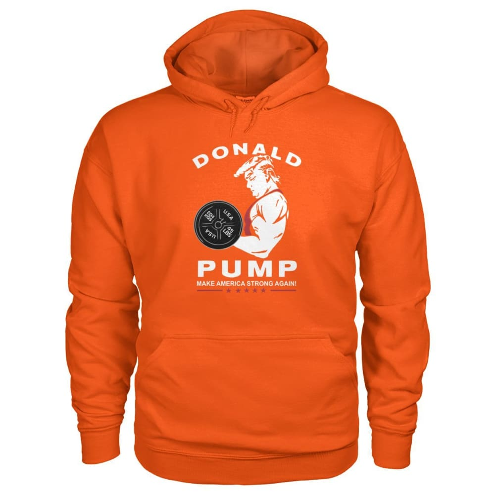 Donald Pump Hoodie - Orange / S - Hoodies