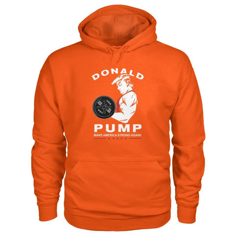 Image of Donald Pump Hoodie - Orange / S - Hoodies