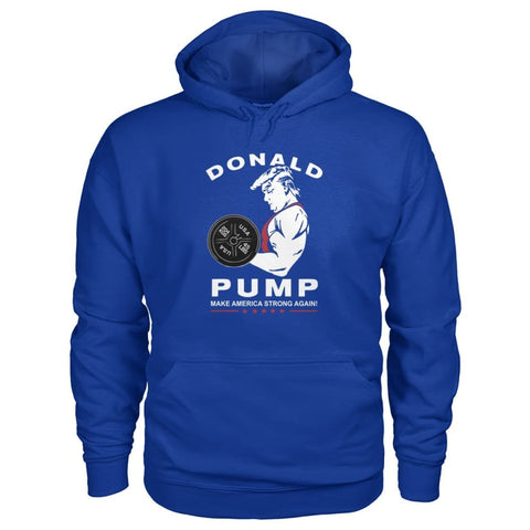 Image of Donald Pump Hoodie - Royal / S - Hoodies