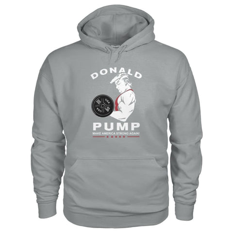 Image of Donald Pump Hoodie - Sport Grey / S - Hoodies
