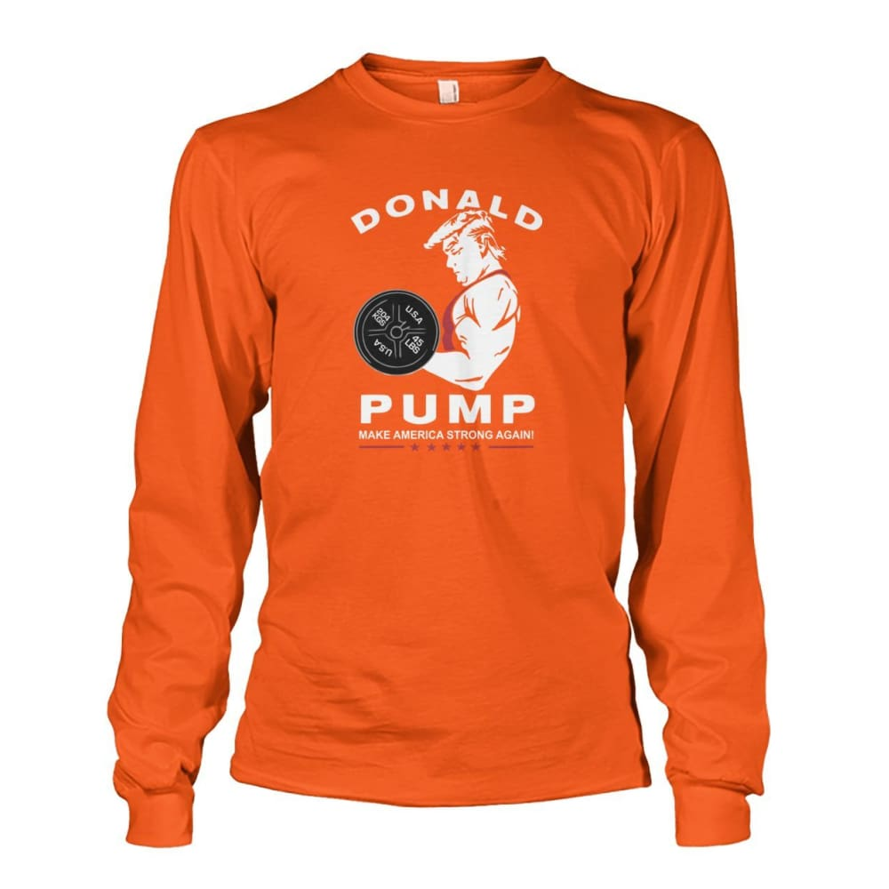 Donald Pump Long Sleeve - Orange / S - Long Sleeves