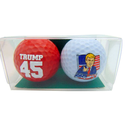 Image of Donald Trump 2020 Car Magnet and Novelty Golf Balls