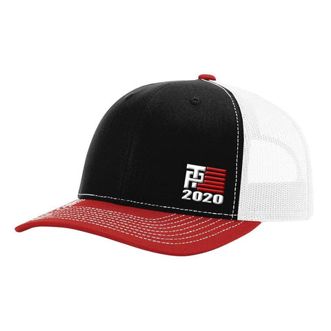 Image of Donald Trump 2020 Hat - Black White & Red