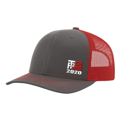Image of Donald Trump 2020 Hat - Charcoal & Red