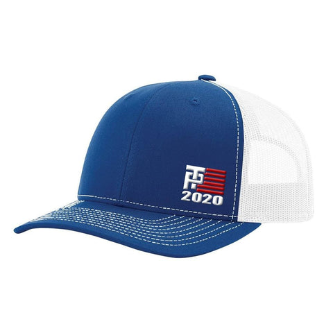 Image of Donald Trump 2020 Hat - Royal & White