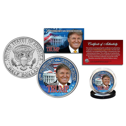 Image of Donald Trump 45th President LEGAL TENDER Half Dollar Coin with C.O.A.