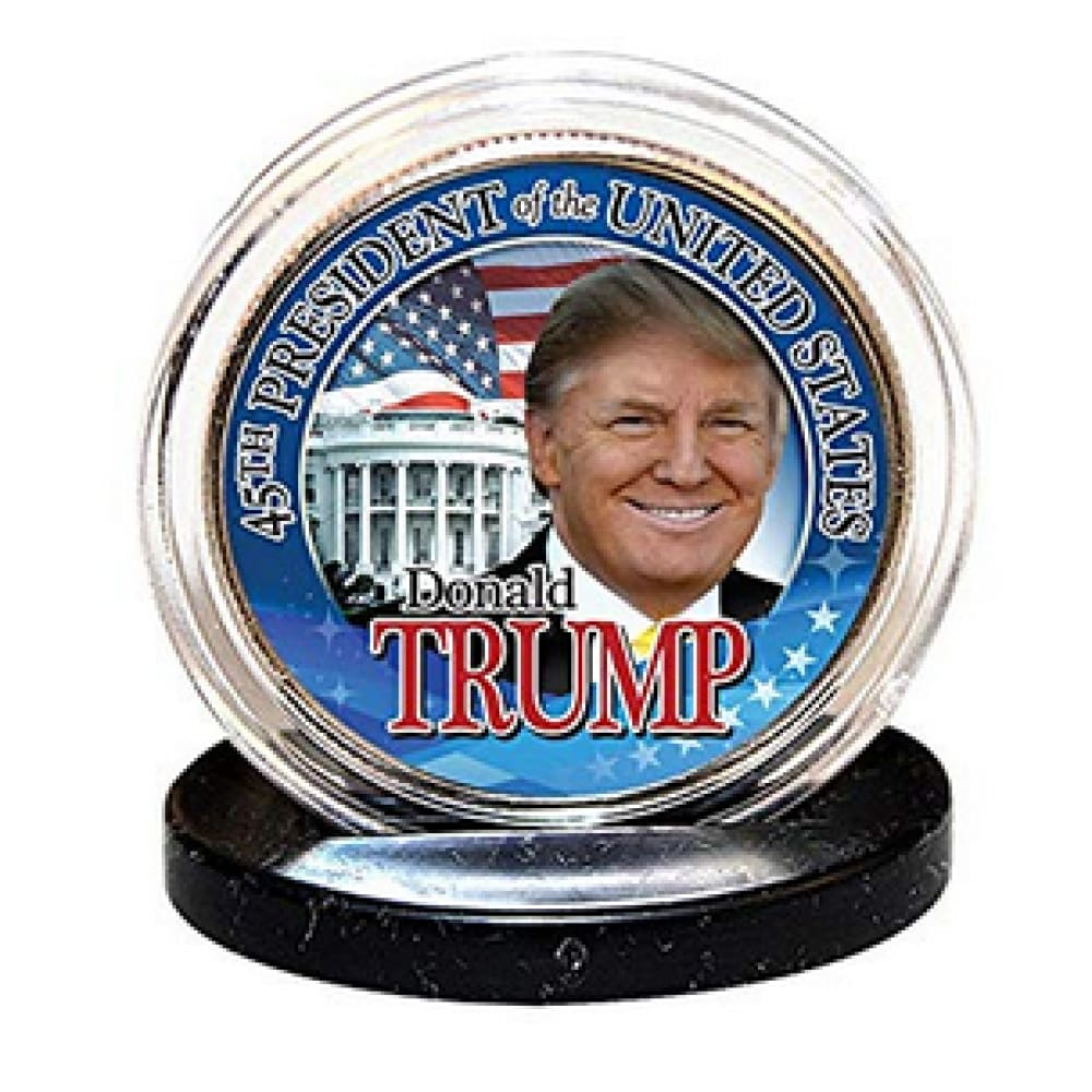 Donald Trump 45th President LEGAL TENDER Half Dollar Coin with C.O.A.
