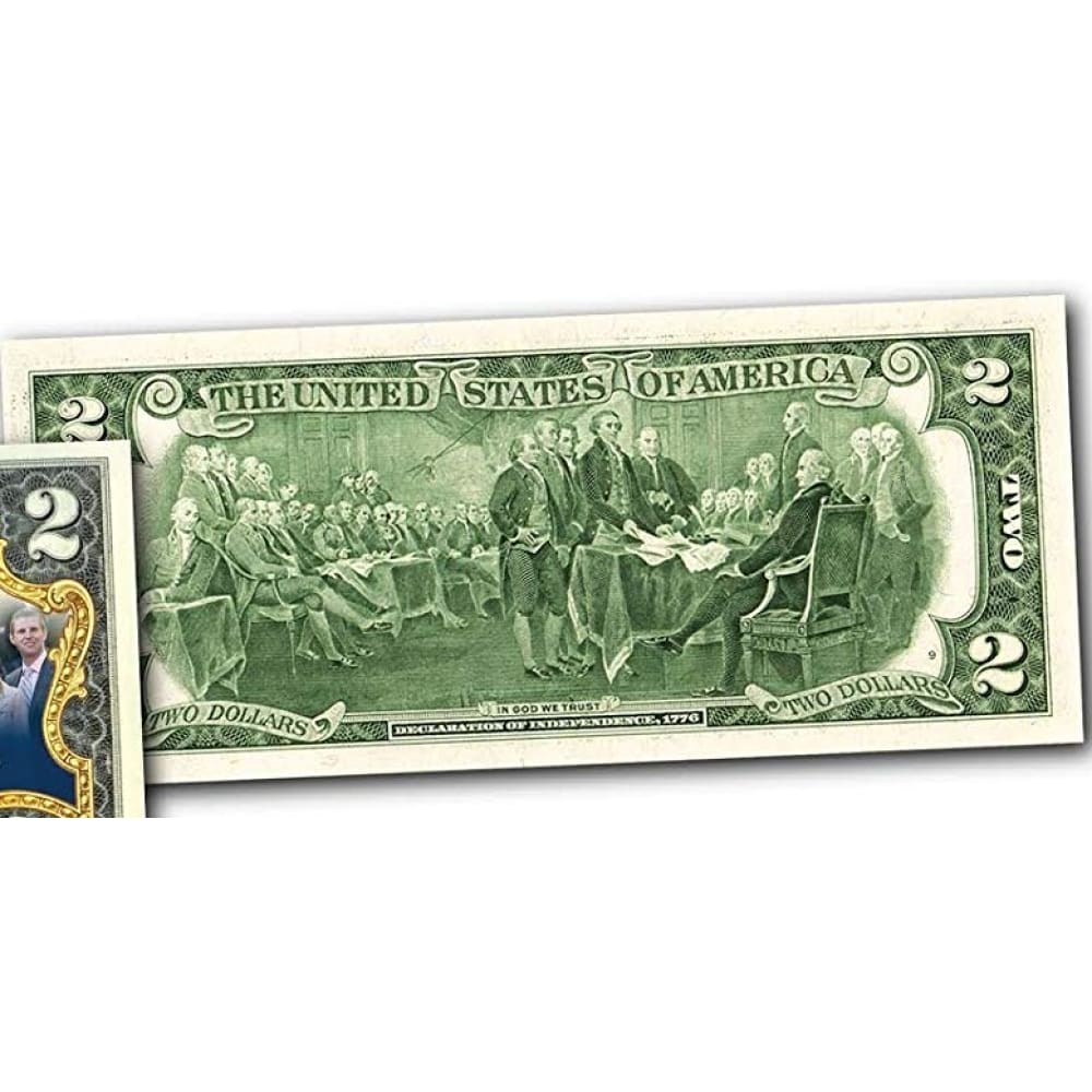 Donald Trump and The FIRST FAMILY Genuine LEGAL TENDER US $2 Bill