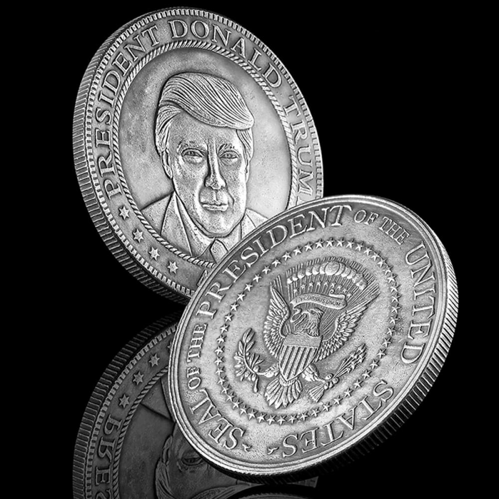 Donald Trump Antique Commemorative Coin - Silver Finish - Coin