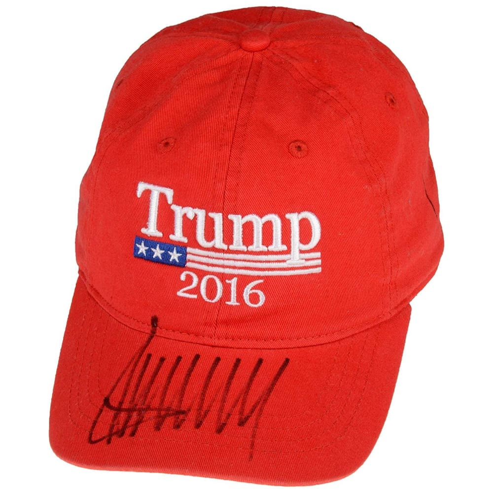 Donald Trump Autographed 2016 Campaign Hat - Beckett LOA - Beckett Authentication