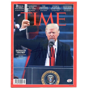 Donald Trump Autographed TIME Magazine with PAAS Certificate of Authenticity