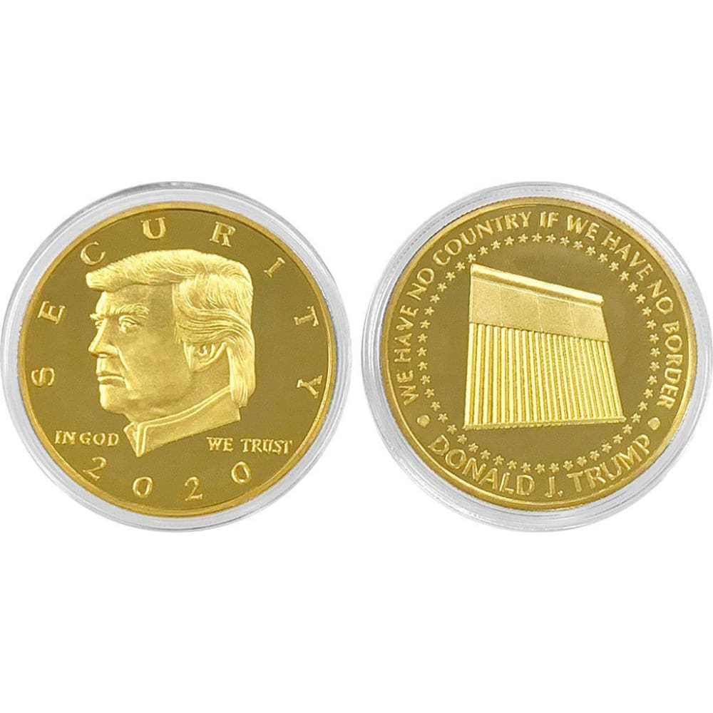 Donald Trump Border Wall 2020 Coin -- In Capsule And Velvet Bag! - Coin