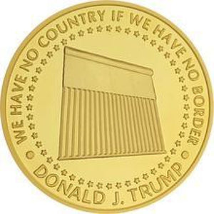 Donald Trump Border Wall 2020 Coin -- In Capsule And Velvet Bag!