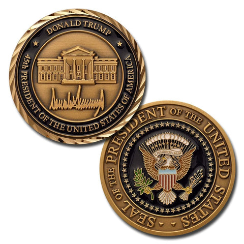 Donald Trump Challenge Coin With Signature And Presidential Seal - Coin
