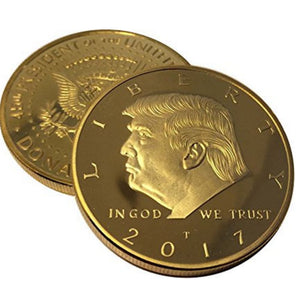 Donald Trump Gold Plated Coin (2017) with Certificate of Authenticity