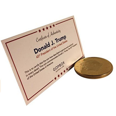 Donald Trump Gold Plated Coin (2017) with Certificate of Authenticity - Coin