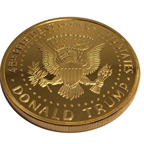 Image of Donald Trump Gold Plated Coin (2017) with Certificate of Authenticity - Coin