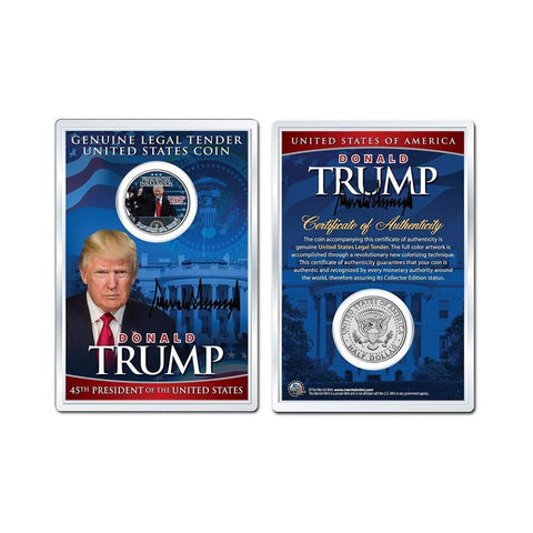 Image of Donald Trump Inauguration LEGAL TENDER Half Dollar Coin in Premium Holder with C.O.A.