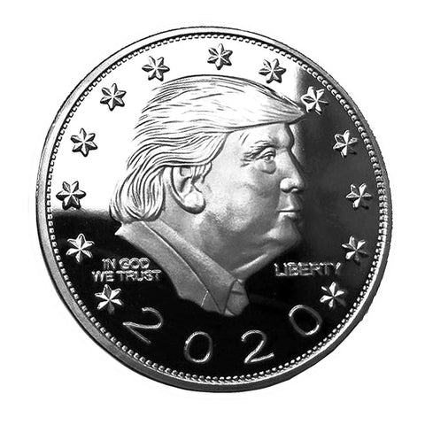 DONALD TRUMP KEEP AMERICA GREAT 2020 Coin - Silver-Plated Commemorative Collectors Edition In Acrylic Capsule - Coins and Currency