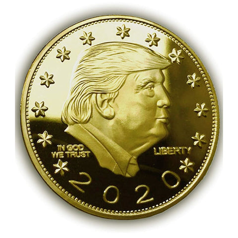 Image of DONALD TRUMP KEEP AMERICA GREAT 2020 Gold Coin - 24K Gold Plated Commemorative Collectors Edition In Acrylic Capsule - Coins and Currency