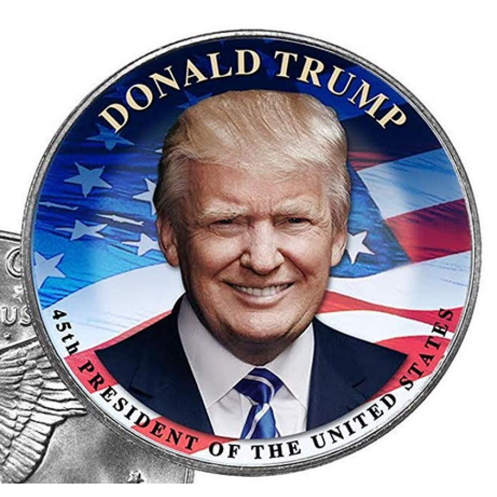 Donald Trump LEGAL TENDER $1 Coin (Eisenhower Style) with Felt Box and C.O.A.